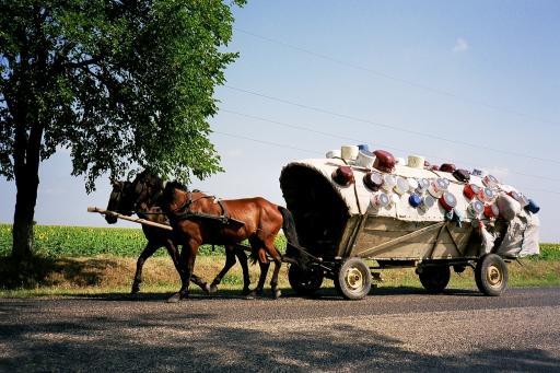 Carriole de Tsiganes - Roumanie